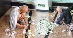 流浪漢竟然賺比你多!他在街上乞討每月竟賺進上數萬元,網友驚呼:數錢數到手軟了!